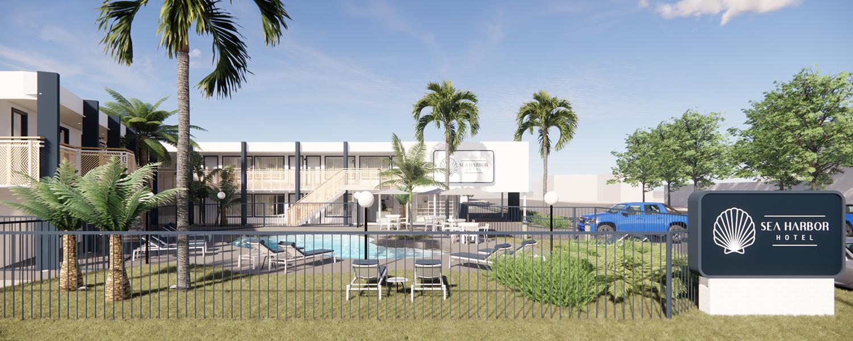 Swimming Pool @ Sea Harbor Hotel San Diego